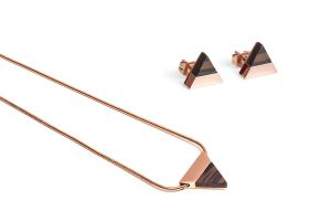 Earrings & Necklace Rose Set