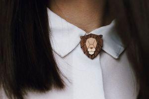 Lion Brooch